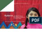 Niños y niñas de los pueblos indigenas de Chile e inmigrantes. Katerin, una niña likanantay. Entre el salar de Atacama y el Volcan Lascar.