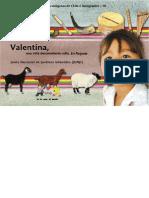 Niños y niñas de los pueblos indigenas de Chile e inmigrantes. Valentina, una niña descendiente colla. En Paipote.