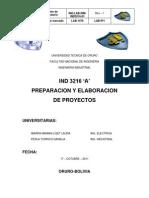 LABORATORIO Nº 1 PROYECTOS IND 3216