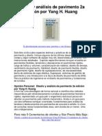 Diseño y análisis de pavimento 2a edición por Yang H Huang - Averigüe por qué me encanta!