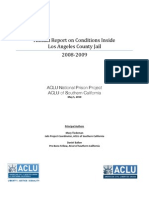 Annual Report on Conditions Inside Los Angeles County Jail 2008-2009