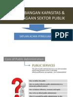 Pengembangan Kelembagaan & Kapasitas Sektor Publik