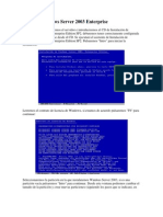 Instalar Windows Server 2003 Enterprise
