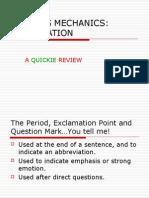 Writing Mechanics Punctuation