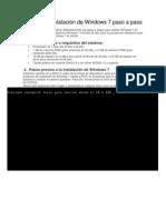Manual de Instalacion de Windows 7