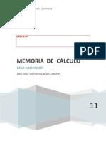 Memoria de Calculo Casa A50
