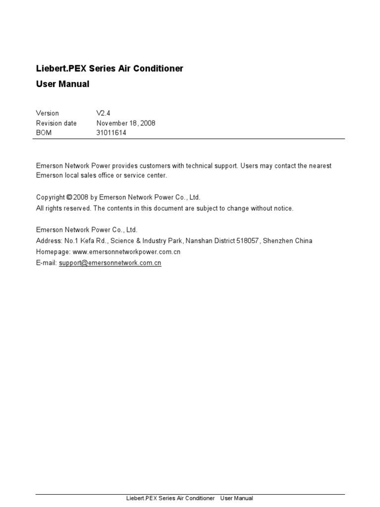 1509386912 liebert pex user manual air conditioning heat exchanger Liebert CRAC Unit Models at edmiracle.co