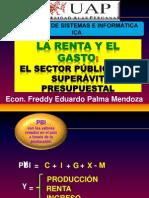 LA RENTA Y EL GASTO Sector Público, Superavit Presupuestal CLASE 7