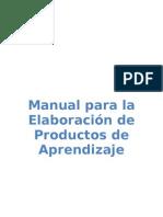 Manual de Productos de Aprendizaje Trabajos Independientes[1]