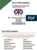 Tutorial on Tdd System
