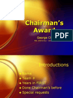 FIRST Robotics Chairman's Award