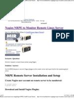 Monitor Remote Linux Server Using Nagios NRPE _ CentOS _ Linux Tutorial