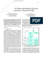 Analysis of TCP Tahoe with Delayed ACK and Retransmission in Network on Chip