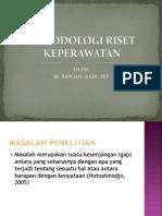 METODOLOGI RISET KEPERAWATAN