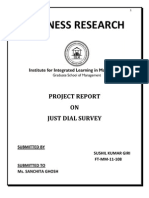 Project Report on just dial