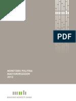 Monetaris Politika Magyarorszagon 2012
