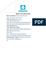 Programación Estepona Televisión 16 de junio de 2012