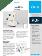 Dehumidifier - Munters MX2700