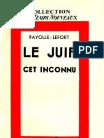 Fayolle et Lefort - Le Juif, cet inconnu