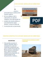 Base Granular- Proceso Constructivo