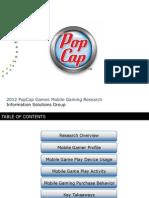 Pop Cap Mobile 2012