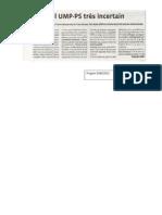 Duel UMP-PS Tres Incertain - Le Progres - 11.06.12