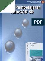 Modul Pembelajaran AutoCAD 3D