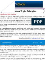 Solutions of Right Triangles
