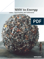 India MSW to Energy- Status,Opportunities and Bottlnecks