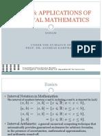Basics and Applications of Interval Mathematics