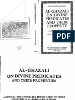Al Ghazali on Divine Predicates and Their Properties - Abdur Rahman Abu Zayd
