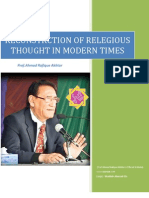 RECONSTRCTION OF RELEGIOUS THOUGHT IN MODERN TIMES