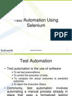 Test Automation Using Selenium