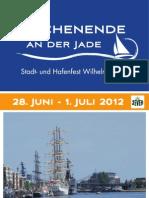 Programmheft Wochenende an der Jade 2012