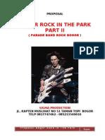Proposal Bogor Rock in the Park III