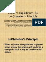 Le Chatelier's Principle IB