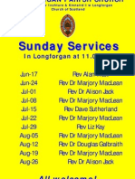 pulpit supply june - aug 2012