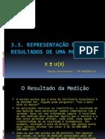 Seminário 1 metrologia - Representação de Medições