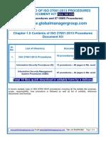 ISO 27001:2013 Procedures