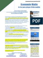 CP Lancement Economiematin Sur iPhone
