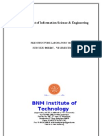 BNMIT file structure lab manual