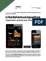 Cp Appli Cited El a Musique Live