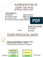 Implementation of OSPF on IPv6