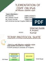 Implementation of OSPF on IPv6