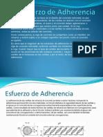 Esfuerzo de Adherencia