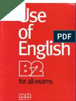 Use of English B2 for All Exames SB