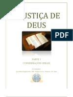 A JUSTIÇA DE DEUS - parte 1 - Considerações gerais