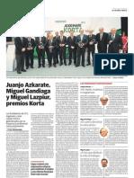 2012_13_06 Premio Korta - El Diario Vasco p+ígina
