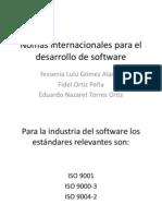 Nomas Internacionales Para El Desarrollo de Software