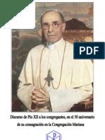 Discurso Pío XII a las Congregaciones Marianas